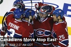 Canadiens Move Atop East