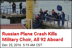 Russian Plane With 92 Aboard Crashes Into Black Sea