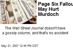 Page Six Fallout May Hurt Murdoch