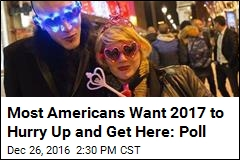Americans Glad to Bid Adieu to 2016, Optimistic for 2017: Poll
