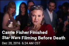 Carrie Fisher Finished Star Wars Filming Before Death