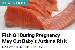 Fish Oil During Pregnancy May Cut Baby's Asthma Risk