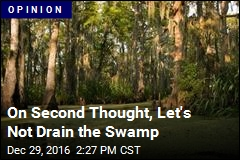 On Second Thought, Let's Not Drain the Swamp