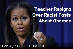Teacher Resigns Over Racist Posts About Obamas