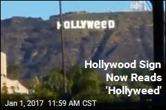 Hollywood Sign Now Reads 'Hollyweed'