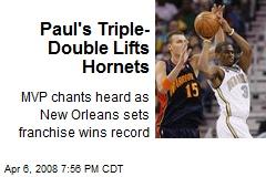 Paul's Triple-Double Lifts Hornets