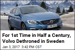 For 1st Time in Half a Century, Volvo Dethroned in Sweden