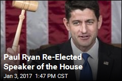Paul Ryan Re-Elected Speaker of the House