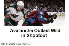 Avalanche Outlast Wild in Shootout
