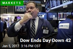 Dow Ends Day Down 42