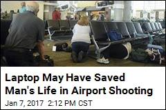 Man's Laptop Took a Bullet for Him in Airport Shooting