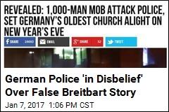 German Police 'in Disbelief' Over False Breitbart Story