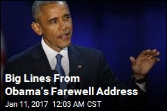 Big Lines From Obama's Farewell Address
