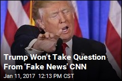 Trump Spars With Reporter of 'Fake News' CNN