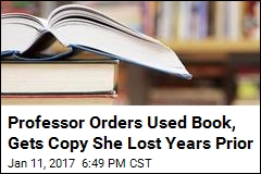 Professor Orders Used Book, Gets Copy She Lost Years Prior