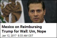 Mexico on Reimbursing Trump for Wall: Um, Nope