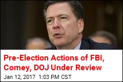 Pre-Election Actions of FBI, Comey, DOJ Under Review