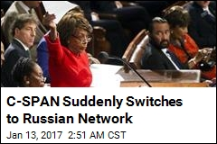 C-SPAN Suddenly Switches to Russian Network