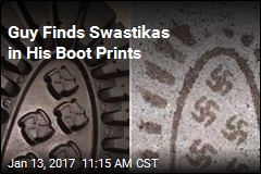 Guy Finds Swastikas in His Boot Prints