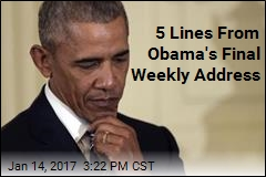 5 Lines From Obama's Final Weekly Address