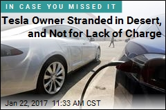 Tesla Owner Stranded in Desert, and Not for Lack of Charge