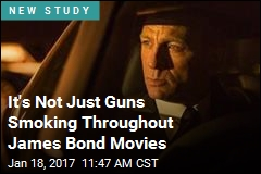 It's Not Just Guns Smoking Throughout James Bond Movies