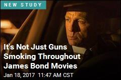 It's Not Just Guns Smoking Throughout James Bond Movies