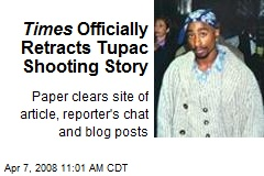 Times Officially Retracts Tupac Shooting Story