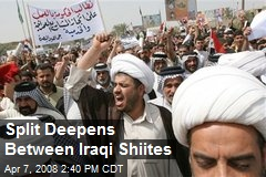Split Deepens Between Iraqi Shiites