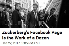 Zuckerberg's Facebook Page Is the Work of a Dozen