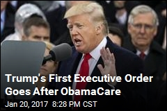 Trump's First Executive Order Goes After ObamaCare