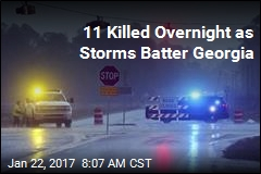 11 Killed Overnight as Storms Batter Georgia