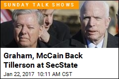 Graham, McCain Back Tillerson at SecState