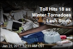 Toll Hits 18 as Winter Tornadoes Lash South