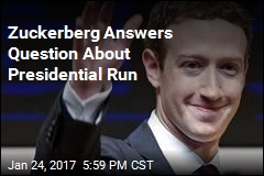 Zuckerberg for President? 'No'