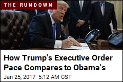 How Trump's Executive Order Pace Compares to Obama's