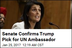 Senate Confirms Trump Pick for UN Ambassador