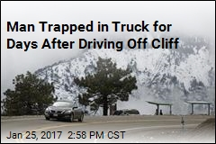Man Trapped in Truck for Days After Driving Off Cliff