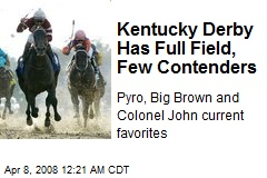 Kentucky Derby Has Full Field, Few Contenders