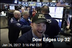 Dow Edges Up 32