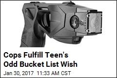 Cops Fulfill Teen's Odd Bucket List Wish