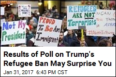 Poll Finds Nearly 50% of US Supports Trump's Refugee Ban