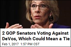 Betsy DeVos Facing Tight Confirmation Vote