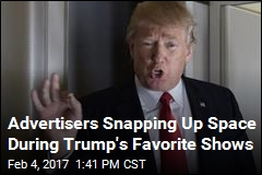 Ad Rates Skyrocket for Shows Trump Is Known to Watch