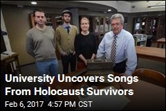 University Uncovers Songs From Holocaust Survivors