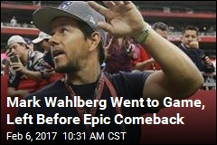 Patriots Fan Mark Wahlberg Left Early, Missed Comeback