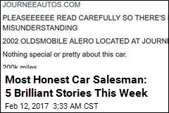 Most Honest Car Salesman: 5 Brilliant Stories This Week