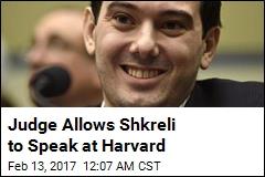 Shkreli Scheduled to Speak at Harvard