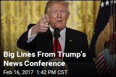 Big Lines From Trump's News Conference