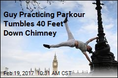 Guy Practicing Parkour Tumbles 40 Feet Down Chimney